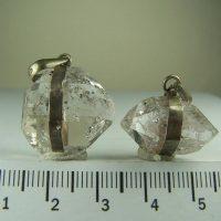 Doubly terminated Quartz pendants from Pakistan