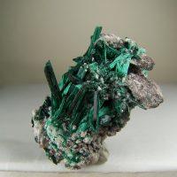 Brochantite specimen from Milpillas Mine, Sonora, Mexico