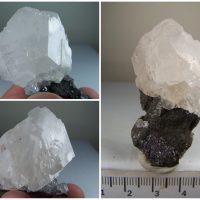 Calcite cluster on matrix from Tsumeb Mine, Tsumeb, Otjikoto Region, Namibia